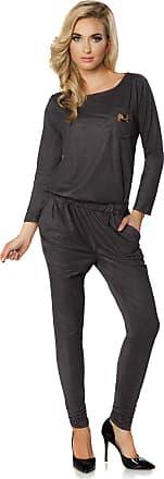 FUTURO FASHION Elegant Suede Long Sleeve Jumpsuit Adjustable Waist Cotton Playsuit Size 8-16 UK FT2836