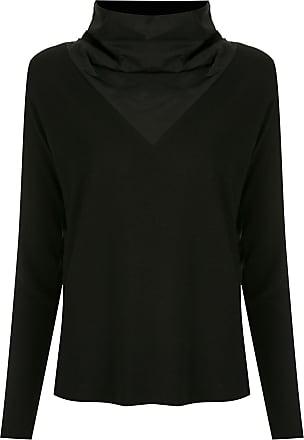 Uma Blusa a collo alto - Di colore nero