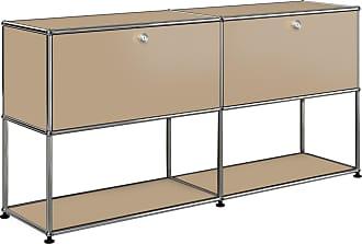 USM Sideboard mit 2 Klapptüren oben H74cm - USM beige/152x37x74cm