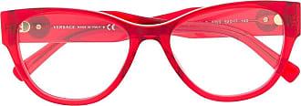 Versace Óculos de sol gatinho com aplicação Medusa - Vermelho