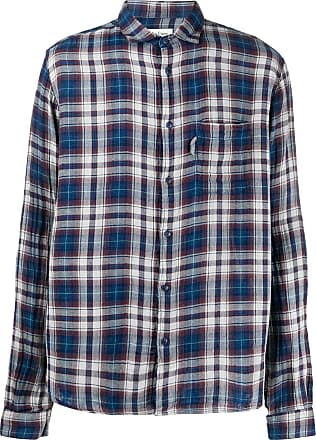 Ymc You Must Create Camisa xadrez - Azul
