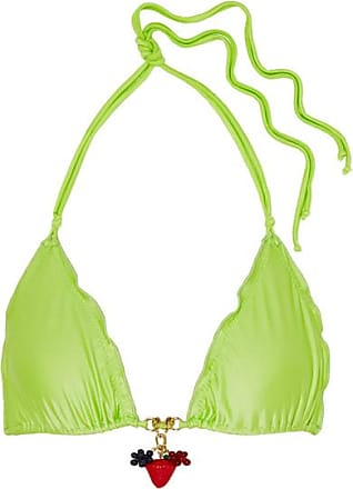 a34a9040de Agent Provocateur Berry Embellished Bikini Top - Lime green