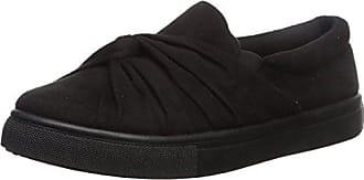Qupid Womens MOIRA-03 Sneaker, Black, 8 M US