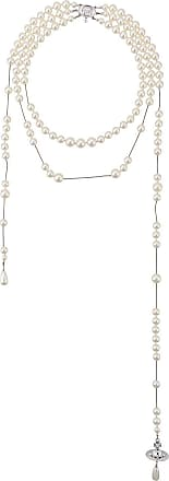 Vivienne Westwood broken pearl pendant necklace - White