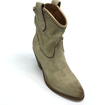 Zoe Florida 01 Boots Texano Suede Color Beige Brown Size: 5 UK