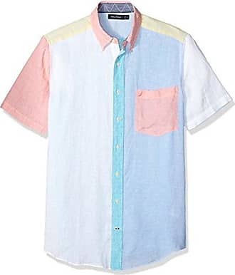Nautica Mens Big and Tall Short Sleeve Classic Fit Solid Linen Button Down Shirt, Bright White, 2XLT