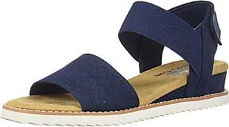bc000f18e Skechers BOBS Womens Desert Kiss-Stretch Quarter Strap Sandal Flat