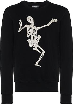 Alexander McQueen Dancing Skeleton embroidered sweatshirt - Black