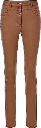 Madeleine Enge Jeans mit hohem Bund in dunkelbraun MADELEINE Gr 17, nougat für Damen. Baumwolle, Elasthan. Waschbar