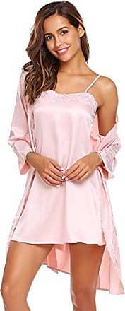 Damen Satin Negligee Nachthemd mit feiner Spitze Marita 34 36 38 40 42 44 46