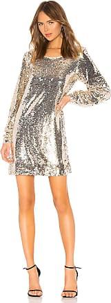 NBD Miss Right Mini Dress in Metallic Gold