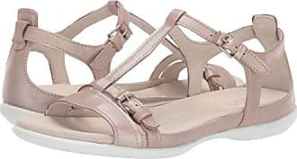 Ecco Womens Womens Flash T-Strap Flat Sandal, Champagne, 39 M EU (8-8.5 US)