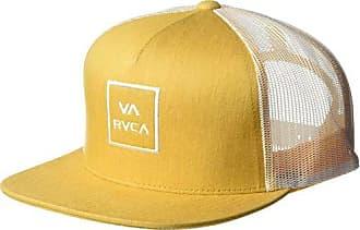 18e47acb1c8f11 Rvca Mens VA All The Way MESH Back Trucker HAT, Orange, One Size
