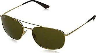 Ray-Ban RB3654 Square Metal Sunglasses,Gold/Dark Brown, 60 mm