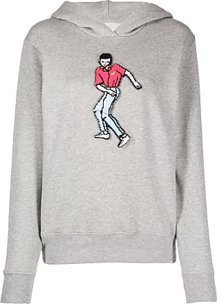 Kirin pixelated dancer plaque hoodie - Grey