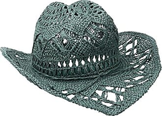 ále by Alessandra Womens Caballera Crochet Toyo Cowboy With Memory Wire Brim, Teal, One Size