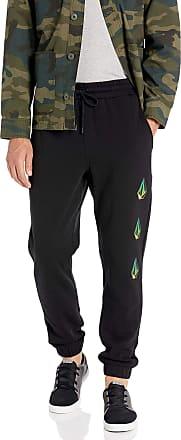 Volcom Mens Deadly Stones Fleece Sweat Pant - Black - Small
