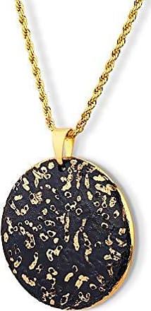 Design Medalhas Pingente Medalha Black Gold Grande Porcelana com Pintura à Mão Com Ouro 18k