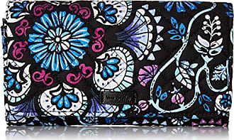 Vera Bradley womens Iconic RFID Audrey Wallet, Signature Cotton, Bramble, One Size