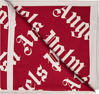 Palm Angels Logo Scarf Mens Red