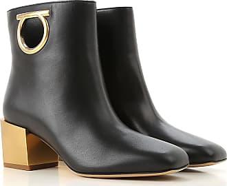 c988bc7f770e Salvatore Ferragamo Boots for Women, Booties On Sale, Black, Leather, 2017,