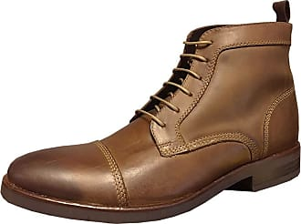 Ikon Original Mens Marlow 60s Leather Derby Boot Tan 10 UK/44 EU
