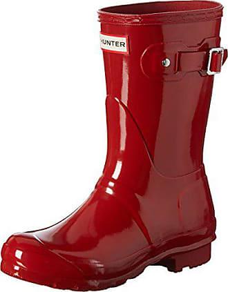 47bf3251 Hunter Wmn Org Short Gloss, Botas de Agua para Mujer, Rojo (Military Red