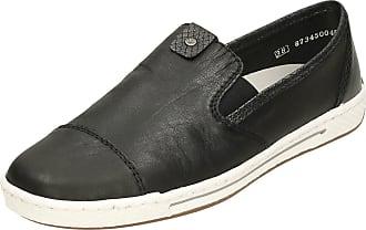 Rieker Ladies Slip On Pumps L3051-00 - Black Leather - UK Size 7.5 - EU Size 41 - US Size 9.5