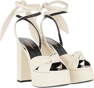 Saint Laurent Pumps - Bianca 85 Sandals Leather Light Cream - white - Pumps for ladies