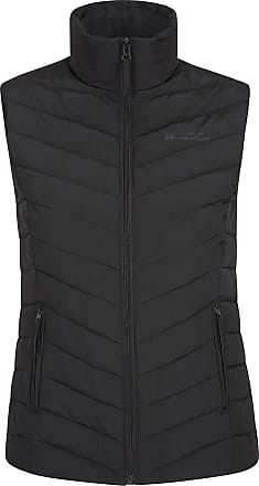 Mountain Warehouse Windemere Womens Padded Gilet - Extra Warmth Body Warmer, Pockets, Full Zip Ladies Vest Jacket - for Summer Travelling, Camping Black UK 22