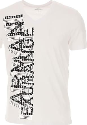 A|X Armani Exchange T-Shirts für Herren, TShirts Günstig im Outlet Sale, Weiss, Baumwolle, 2019, L M S XL