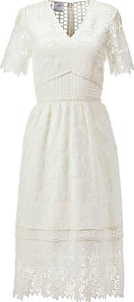 Madeleine Spitzenkleid mit kurzen Ärmeln in weiß MADELEINE Gr 34, wollweiß für Damen. Viskose. Waschbar