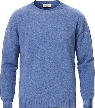 Altea Shetland Crew Neck Sweater Light Blue