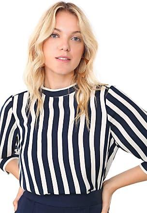 Vero Moda Blusa Vero Moda Listrada Azul-Marinho/Off-White