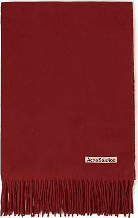Acne Studios Woll-Schal Canada Rot