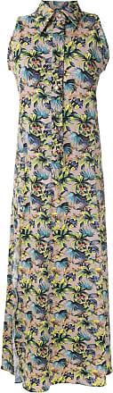 Amir Slama sleeveless floral shirt dress - NEUTRALS
