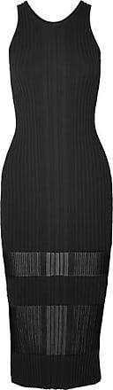 Dion Lee Ribbed-knit Dress - Black