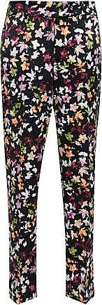 Equipment Equipment Woman Florence Floral-print Washed-silk Straight-leg Pants Black Size XS