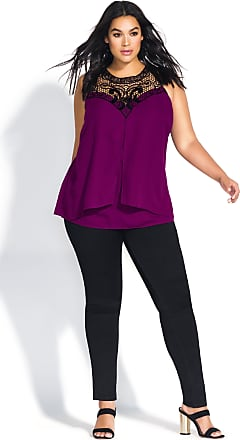 15f752f7df2a2d City Chic Motif Neck Top - Cerise - Size 14   XS by City Chic