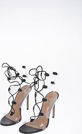 Aquazzura 11cm Leather and Pvc MILOS Sandals size 36,5