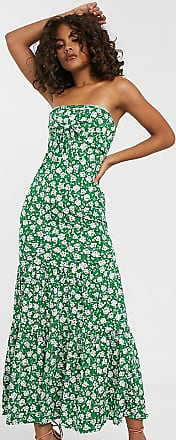 Asos Tall ASOS DESIGN Tall Exclusive bandeau tie front maxi in floral print-Multi