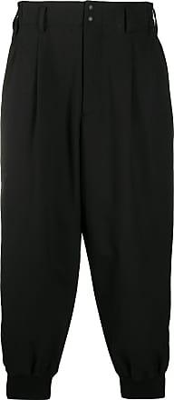 Yohji Yamamoto tapered zoot trousers - Black