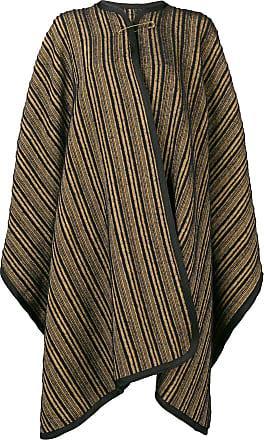 Forte_Forte striped cape - Black