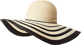 6afbb964 Vince Camuto Womens Ribbon Stripe Floppy Hat, Natural Black, One Size