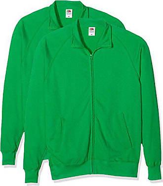 5f672dd5af809 Fruit Of The Loom Lightweight Sweat Jacket, Sweat-shirt Homme, Vert (Kelly
