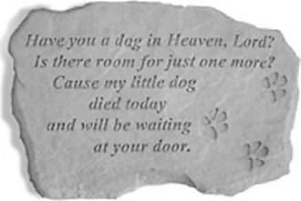 Kay Berry Have You A Dog In Heaven Garden Stone - 94920