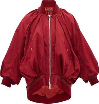 Undercover Draped Silk-satin Bomber Jacket - Womens - Burgundy