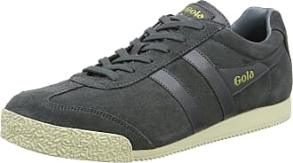 Gola Mens Harrier Suede Low-Top Sneakers, Grey (Graphite/Off White Mg), 6 UK 40 EU