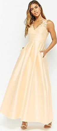 Forever 21 Forever 21 Embroidered Mesh Gown Cream