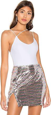 Superdown Janelle Asymmetrical Strappy Bodysuit in White